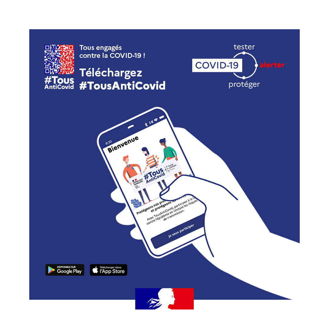 Installez l'application Tous Anti-Covid – Centre Médical Françoise Dolto